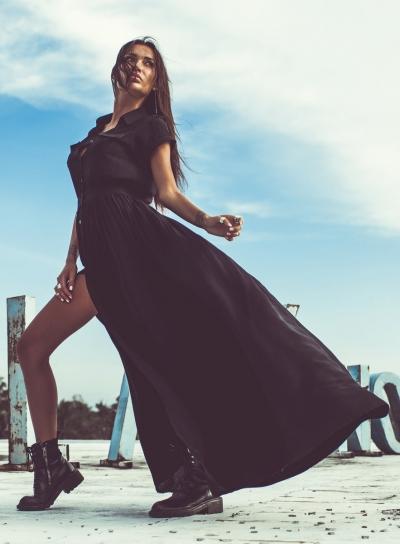 short sleeve dress shirt black (3)